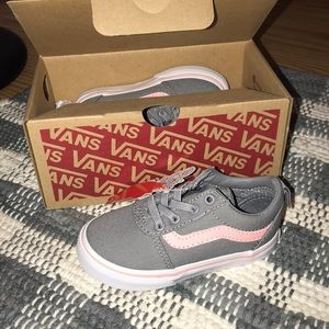Vans toddler pink and grey shoes
